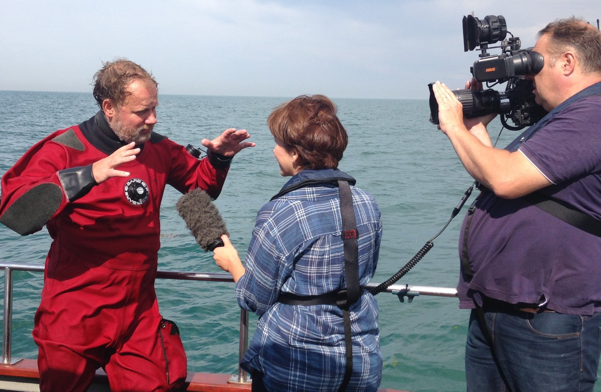 Martijn Manders being interviewed by the BBC for the Rooswijk project, 2016. Photo by: Maritime Programme RCE.