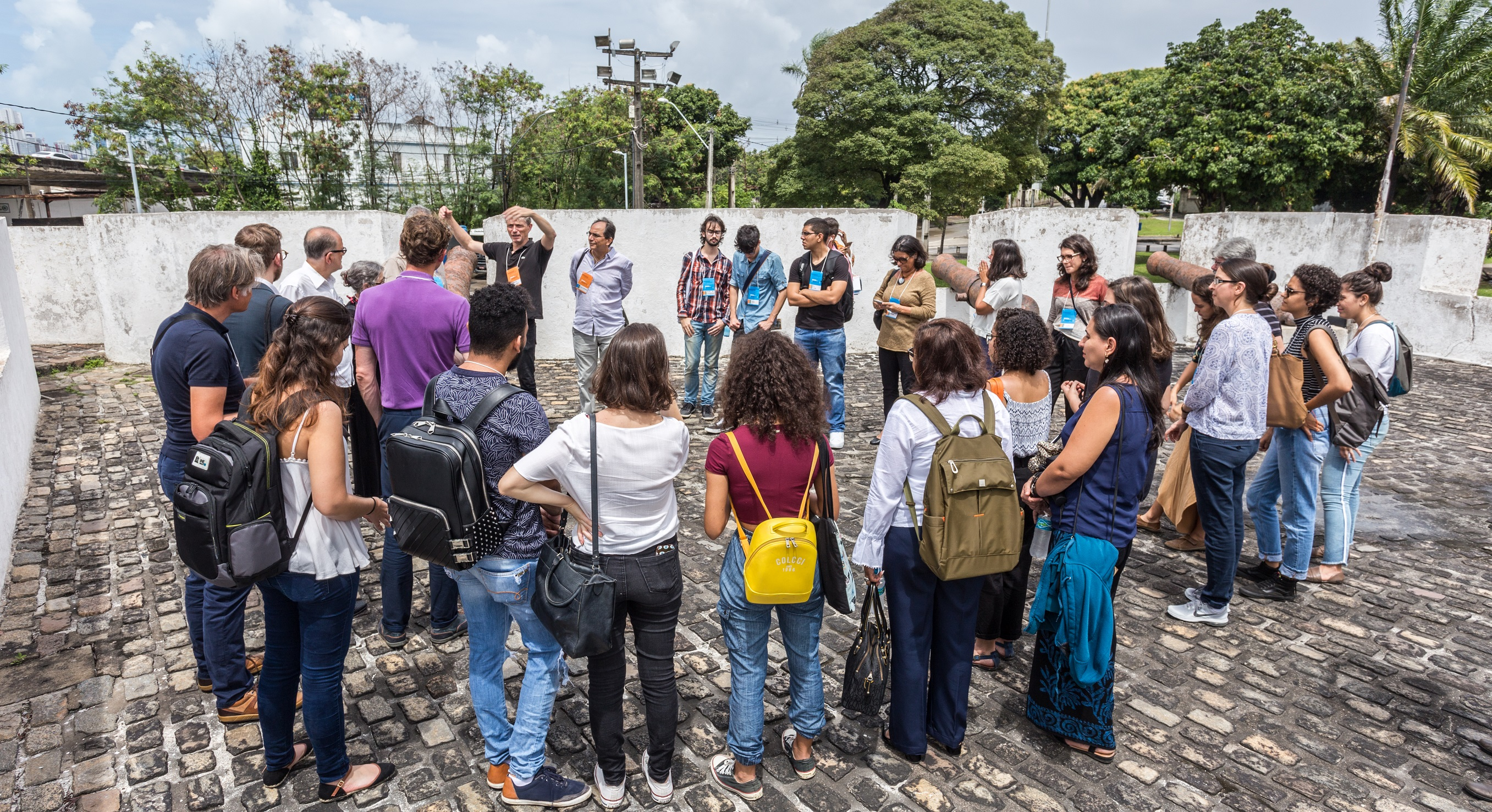 Participants of the workshop 'RxH 2019' (1-6 September 2019) listening to Paul Meurs (back, left) in Recife, Brazil (photo: Ariano Rodrigo).
