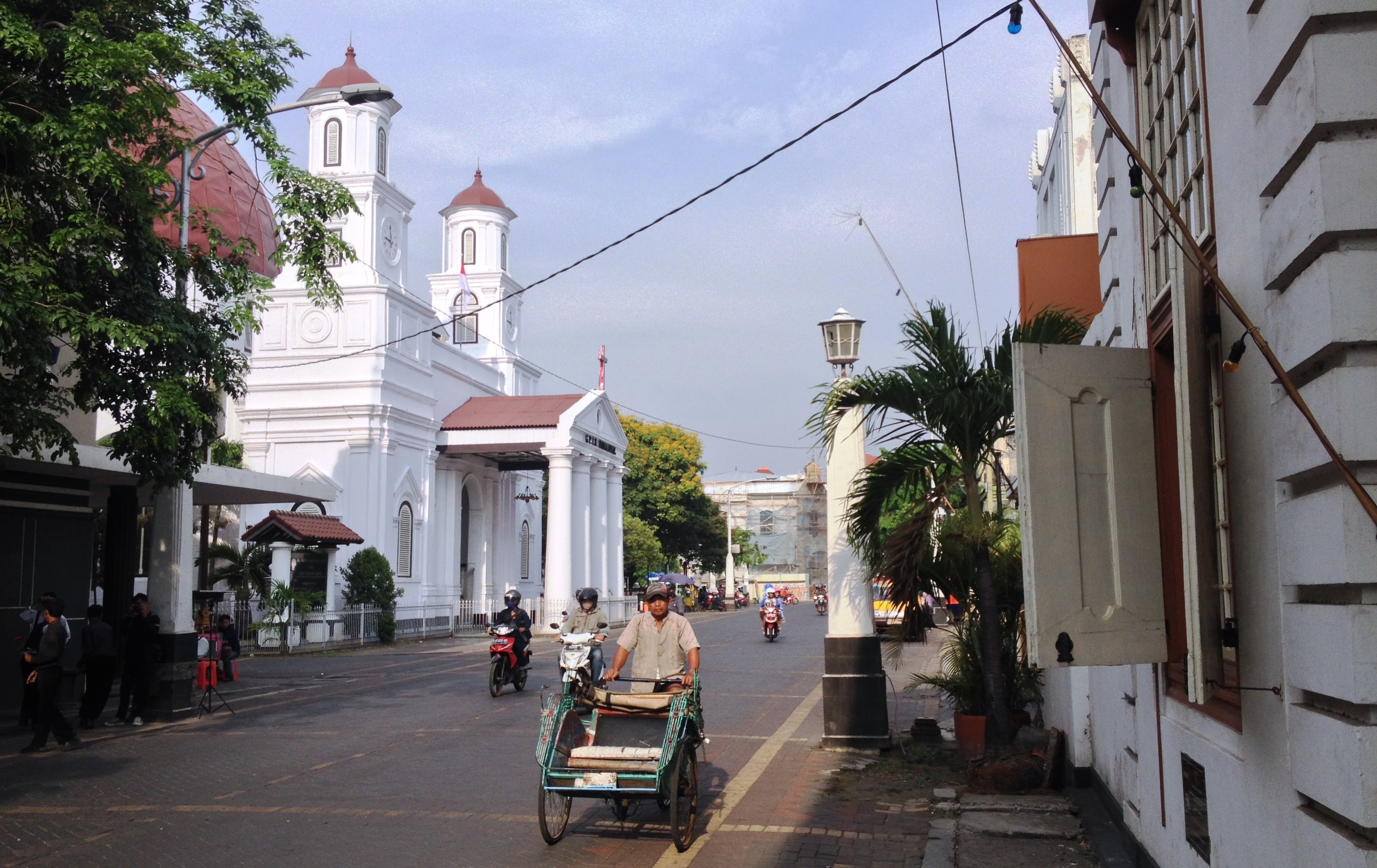 The old inner-city of Semarang (Kota Lama) in Indonesia (photo: Peter Timmer, Cultural Heritage Agency of the Netherlands)