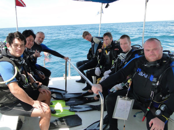 Dive team with Thijs Coenen (second to the right) Brazil 2012. Photo: Maritime Programme, RCE.